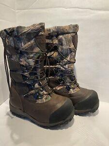 "Cabela's 15"" Saskatchewan PAC Goretex Insulated Boots Camo Leather Sz 10"