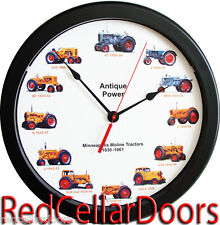 "New MINNEAPOLIS MOLINE Tractor Wall Clock 12 Massive 14""  Wheel Dial Clock"