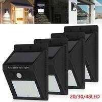 20/30/48 LED Solar Powered PIR Motion Sensor Wall Security Light Garden Outdoor