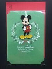 Hallmark Mickey Mouse Christmas Card with Hangable Ornament (NEW)