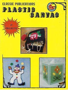 Plastic Canvas Patterns Classic Publications PC-1 Rare Vtg 1982 Craft Book #2043