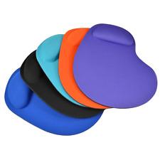 Tappetino Mouse Pad ergonomico morbido con poggia polso in silicone colore NERO