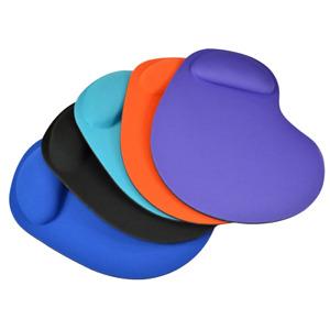 Tappetino Mouse Pad ergonomico morbido con poggia polso colore NERO