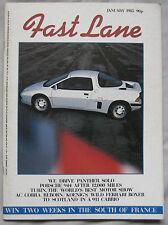 FAST LANE 01/1985 featuring Panther Solo, Porsche 944, Opel, BMW 628CSi,AC Cobra