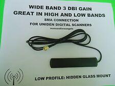 HIDDEN GLASS WINDOW MOUNT ANTENNA FOR UNIDEN HOME PATROL BCD396 DIGITAL SCANNER