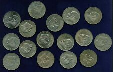 MEXICO ESTADOS UNIDOS  1970-1983  1 PESO COINS, GROUP LOT OF (16)!