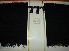 Vintage Trim - Black Trim with tassels Sold by the Yard Made in England -