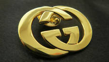 Authentic GUCCI Gold GG Brooch Handbag Shoes Belt Designer Jewelry Sunglasses