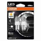 OSRAM P21/5W 12V Light Car Bulbs 1557YE-02B LED Premium BAY15d Amber DuoBox