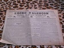 Journal - L'Echo d'Alençon n° 1456, 30/05/1922