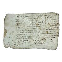 Authentic 1700's European Document Legal Work Paper Handwritten Old Manuscript L