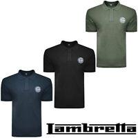 Lambretta Polo Shirt T-Shirt Tee Short Sleeve Original Mens Retro Cotton UKS-4XL