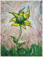 Sunflower for Van Gogh Fine Art Print Early Robert MacDonald Signed COA