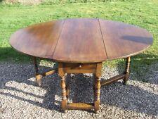 Large Solid Oak Vintage Dropleaf Gateleg Kitchen/Dining Table ~ with Drawer