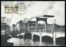 NETHERLANDS MK 1968 BRIDGES BRIDGE BRÜCKEN BRÜCKE CARTE MAXIMUM CARD MC CM be96