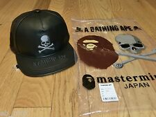 2016 A Bathing Ape Mastermind Japan Leather Cap Black BAPE Hat HOT DEAL