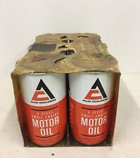 Vintage Allis Chalmers 4 Cycle Small Engine Motor Oil Can Cans Case of Six Full