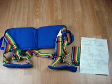 Sport Backer By Nada Chair - Blue with Rainbow Straps Portable Sitting Posture