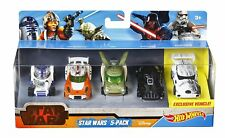 Star Wars Hot Wheels Pack of 5 Vehicles Cars - Brand New & Boxed