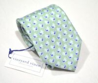 NEW vineyard vines Green Cock Tail All Over Print Classic Necktie Made in USA