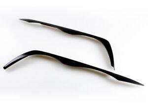 Custom Painted Eyebrows Headlight Cover Eyelids For BMW E46 Sedan Touring 98-01