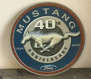 """12"""" round """"Mustang 40th Anniversary""""   metal sign Ford automotive garage car"""