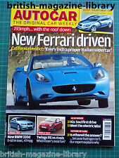 Autocar 22/10/2008 Driven: Ferrari California Road Test 330d M Sport Panda 100HP