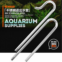 Aquarium Fish Tank Filter Stainless Steel Inflow Outflow Lily Pipe