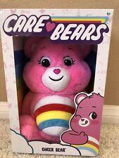 "2020 Care Bears Cheer Bear 14"" Plush Stuffed Animal Pink Bear Rainbow"