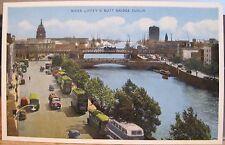 Irish Postcard RIVER LIFFEY & BUTT BRIDGE DUBLIN Ireland ETW Dennis 1950s