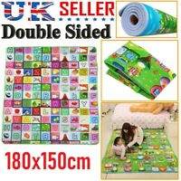 2 SIDE KIDS CRAWLING EDUCATIONAL GAME BABY PLAY MAT SOFT FOAM CARPET 180 X 150CM