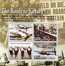 WWII Route To Victory / RAF Battle of Britain Stamp Sheet (2005 Sierra Leone)
