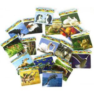 Lot de 10X Mini Puzzle 18pcs 12x8,5cm Animaux Nature Apprentissage Ludique