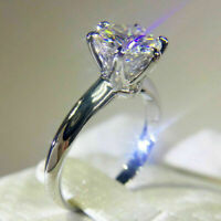 1.5 Ct Round Forever Moissanite Solitaire Engagement Ring 14K White Gold Over