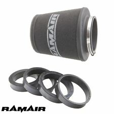 Ramair Performance Universal Induction Air Filter - 90mm ID Reducing Rings Inc