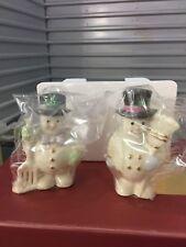 "Lenox Collectible Salt And Pepper ""Snowmen"" 6138531 Nib (B)"