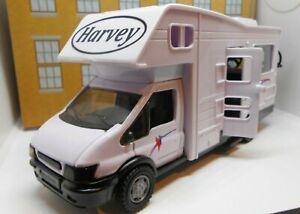 PERSONALISED NAME Toy Car MODEL MOTORHOME CAMPER VAN FATHERS DAY GRANDAD NEW