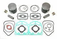 2001 2002 Ski-Doo MXZ 800 Top End Rebuild Kit Dual Ring Pistons Bearings Gaskets