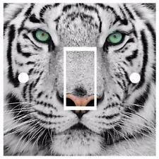 Snow Tiger Light Switch Cover Wrap Skin UK Single Switch Sticker Vinyl Decal