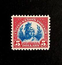 "US Stamps, Scott #573 5 Dollar 1923 America 2013 PF cert GC XF 90 ""XQ"" M/NH"