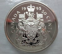 1995 CANADA 50 CENTS PROOF HALF DOLLAR COIN