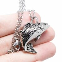 Fish Design Cremation Urn Ash Holder Keepsake Pendant for Necklace Jewelry Gift