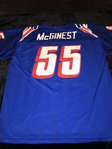 Vintage 90's New England Patriots Willie McGinest NFL Champion Jersey L-46-48