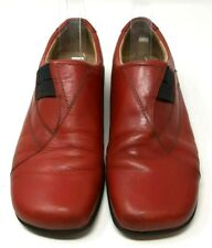 Josef Siebel Ladies Casual Shoes UK 5 Red Leather Shoe Flats Comfort
