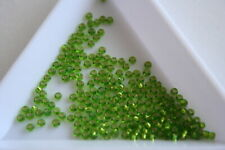 Silver Lined Lt Green Preciosa Seed Beads. Size 11 2mm. 800 beads approx. #7953
