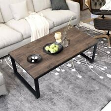 Rustic Coffee Table with Metal Framing