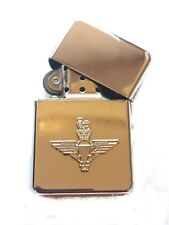 Parachute Regiment Silvered Chrome Plated Windproof Petrol Lighter in Gift Box
