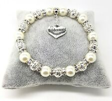 Personalised Wedding Favour Bracelet Bride Lots Of Charms Free Gift Bag