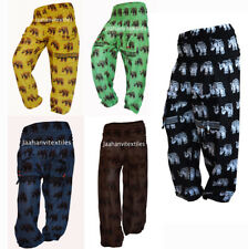 New Elephant Print Indian Cotton Handmade Yoga Women Harem Pant Trouser Lot of 5