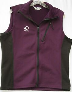 Pearl Izumi women's zip up softshell cycling vest w/ 2 zippered pockets large
